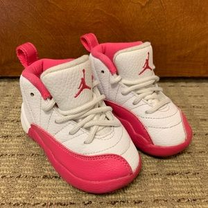 Girl toddler Air Jordan's valentine 6C white pink